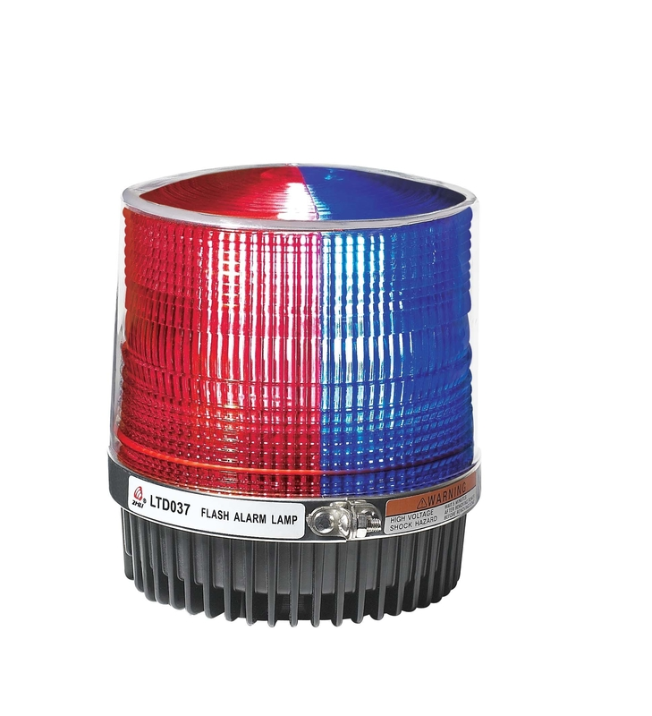 Red And Blue Police Beacon Light Magnet Fixation , Led Rotating Beacon Lights